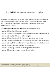 top  childcare assistant resume samplestop  childcare assistant resume samples in this file  you can ref resume materials for