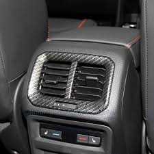<b>New Carbon Fiber Style</b> Rear Air Vent Outlet Cover Trim for ...