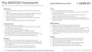 leanvc click the image below to a quick reference card on the mentor framework it is yours to use let me know how it goes