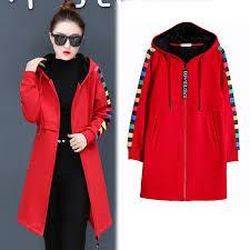 <b>YICIYA</b> Red Hooded <b>Jacket</b> Women Long Sleeve Plus Size ...