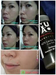 makeup artists choice lactic acid review at home 40 glycolic acid l from muac