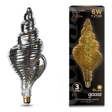 Светодиодная <b>лампа Gauss Led Vintage</b> Filament Flexible TL120 ...