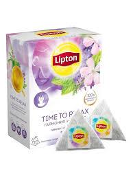 Травяной чай в пирамидках Time to Relax с <b>лавандой</b>, вербеной ...
