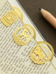 Buy 3Pcs Metal <b>Bookmarks</b> Round Shape <b>Creative</b> Hollow Out ...