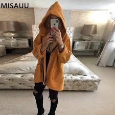 <b>MISAUU Autumn Winter</b> Warm Hooded Sweatshirts <b>Women</b> Fur ...