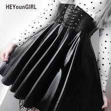 Online Shop HEYounGIRL <b>Punk Harajuku</b> Faux Leather Skirt ...