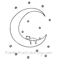 Small Picture Moon Coloring Pages FamilyFunColoring