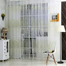 Floral Print <b>Voile</b> Window Curtains for Living Room <b>Voile</b> Tulle Door ...