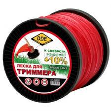 Купить <b>Леска для триммера DDE</b> Speed Line 2.4mm x 116m Red ...