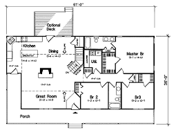Terrific Rectangle House Plans Modern Rectangular House Floor        Easy Rectangle House Plans First Floor Plan Of Country Ranch House Plan   Interior Design