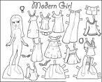Раскраска одежды для куклы
