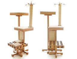 contemporary cat tree with natural style modern cat furniture cat modern furniture