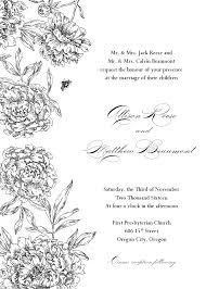 doc blank wedding invitations templates formal invitation template samples of wedding blank wedding invitations templates