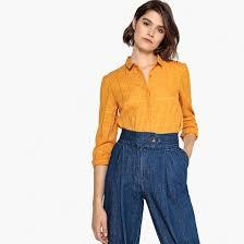 Рубашка в <b>клетку La Redoute</b> Collections Рубашка в блестящую ...