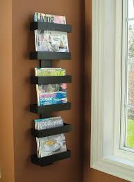 magazine rack wall mount: amazoncom modern magazine rack wall mounted