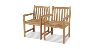<b>Outdoor Chairs 2 pcs</b> Solid Teak Wood - Matt Blatt