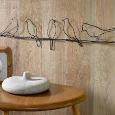 iron wall decor u love: black birds on a wire metal wall art graham and brown