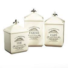 french kitchen canisters storage jars set of  cookie jar canister set kitchen storage earthenware off white