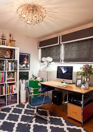 eames office chair home office eclectic with banded roman shades blue animal hide rugs home office