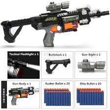 New M4 <b>Electric Burst Soft</b> Bullet Gun Suit for Nerf bullets Toy Rifle ...