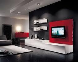 dark black and red furniture