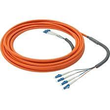 4-жильный многомодовый оптоволоконный кабель с <b>разъемами</b> ...