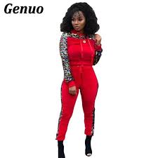 <b>Genuo</b> Women Two <b>Piece Set</b> Suits Long Sleeve Sequin Patchwork ...