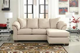 alluring cheap darcy stone sofa chaise in stone microfiber by ashley furniture with loose seat cushions affordable chaise indoor