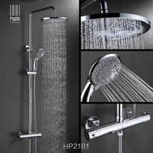 thermostatic brand bathroom:  thermostatic water bath han pai brass thermostatic bathroom hot and cold water mixer bath shower