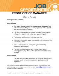 front office manager male female job vacancy in sri lanka requirements our client is looking for a candidate below 38 years of age a minimum of 5 years working experience in the related field is required for