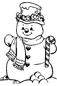 Small Picture Snowman and Candy Cane Coloring Page Color Luna