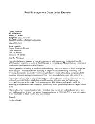 cover letter best cover letter for retail cover letter for retail retail management cover letter example marketing