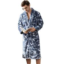 Color : Blue, Size : XL Pajamas Mens <b>Winter Thickening</b> Flannel ...