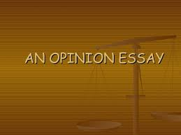 an opinion essay