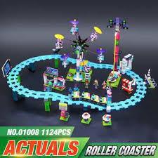 <b>LEPIN</b> 01008 <b>Genuine</b> Funny Amusement Park Roller Coaster Block ...
