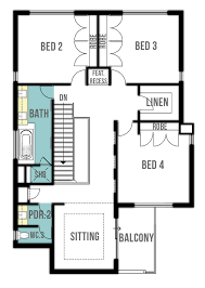 Double Storey House Plans   quot The Retreat quot  by Boyd DesignFirst Floor Plan  modern double storey house plans