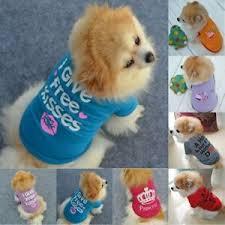 <b>Cute Small Dog Cat</b> Pet Puppy Vest Clothes Spring Autumn T-shirt ...