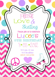 birthday party invites template com printable roller skating birthday party invitations 6