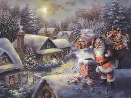 Image result for kinkade christmas art