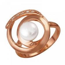 """Кольцо серебряное с позолотой """"Лия"""" Кольцо изготовлено из ..."""