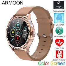 <b>ARMOON ZL01 Round</b> Smart Watch Men Women Fitness Tracker ...