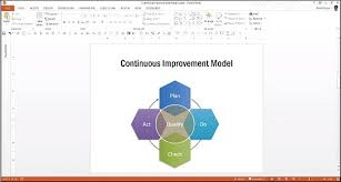 design a continuous improvement model diagram in powerpoint for    design a continuous improvement model diagram in powerpoint for pdca presentations