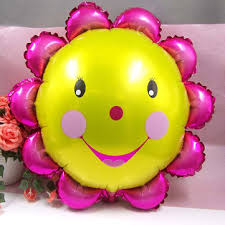 23 inch aluminum foil <b>sunflower</b> balloon <b>smiling face</b> balloons ...
