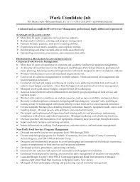 resume for food service manager equations solver food service resume exles