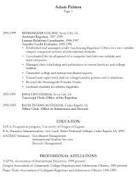resume sample for university application admission resume sample