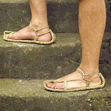 Men Shoes Sandals Straw Shoes Summer Flip Flop Beach Shoes ...