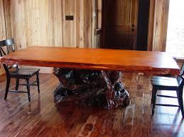 wood slab dining table beautiful: wood slab dining table redwood burl dining table on redwood root base