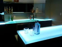 bar table top lit up with leds bar top lighting