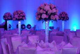 special wedding lighting blue wedding uplighting