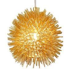 urchin 1 light gold uber mini pendant browse mini pendant orange